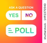 poll ask question. social...
