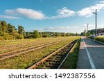 Railroad Tracks Extending Into...
