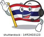 with headphone flag thailand...   Shutterstock .eps vector #1492403123