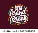 best grandparents lettering on...   Shutterstock .eps vector #1492407410