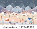 Illustrator Winter Landscape...