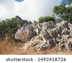 corfu  greece  landscape with... | Shutterstock . vector #1492418726