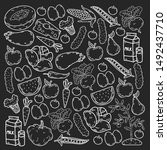 natural food   vector... | Shutterstock .eps vector #1492437710