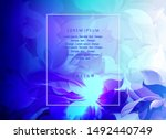 abstract blue background with... | Shutterstock .eps vector #1492440749