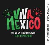 viva mexico. traditional... | Shutterstock .eps vector #1492506743