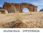 The isolated ennedi geological Formations, Sahara desert, Chad, Africa
