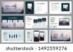 modern teal presentation... | Shutterstock .eps vector #1492559276