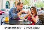 young couple have a great time... | Shutterstock . vector #149256800