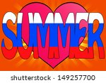 illustration of summer love... | Shutterstock . vector #149257700