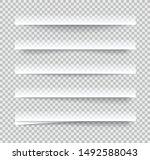 transparent realistic paper... | Shutterstock .eps vector #1492588043