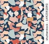 terrazzo pattern.perfect design ... | Shutterstock .eps vector #1492592093