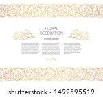 floral gold seamless border ... | Shutterstock .eps vector #1492595519