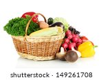 different vegetables isolated... | Shutterstock . vector #149261708