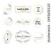 wedding invitation labels.... | Shutterstock . vector #1492620110