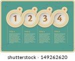 vintage web design. infographic ... | Shutterstock .eps vector #149262620