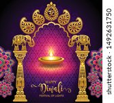 diwali  deepavali or dipavali... | Shutterstock .eps vector #1492631750