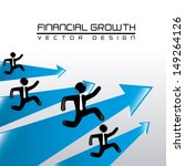 financial growth over gray... | Shutterstock .eps vector #149264126