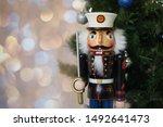 Nutcracker By Christmas Tree...