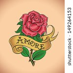 old school styled tattoo of a... | Shutterstock .eps vector #149264153