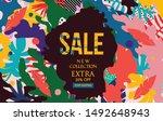 sale website banner. sale tag. ...   Shutterstock .eps vector #1492648943