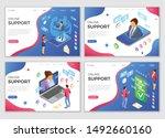 online isometric customer... | Shutterstock .eps vector #1492660160