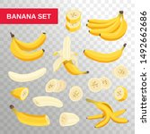 Fresh Banana Fruits Isolated O...