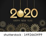 2020 happy new year... | Shutterstock .eps vector #1492663499