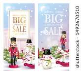 christmas sale banners or... | Shutterstock .eps vector #1492670510