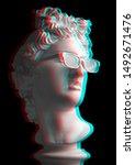 3d Effect. Statue. Gypsum...