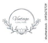 floral frames. floral wreath.... | Shutterstock .eps vector #1492673729