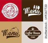 coffee house labels over... | Shutterstock .eps vector #149267720