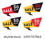 set of sale banners template... | Shutterstock .eps vector #1492707863