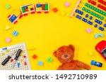 Kids Toys Background. Teddy...