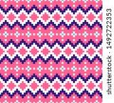 geometric seamless pink chevron ...   Shutterstock .eps vector #1492722353