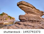Wavy Lines Of Rock Formation Of ...