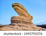 Wavy Lines Of Rock Formation O...