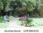 walkway in tropical garden to... | Shutterstock . vector #149280410