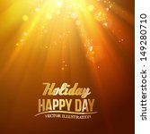 golden stars backdrop with... | Shutterstock .eps vector #149280710