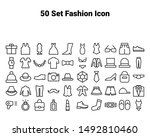 set of fasion icons  such as... | Shutterstock .eps vector #1492810460