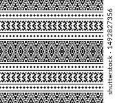 ikat ethnic aztec pattern... | Shutterstock .eps vector #1492827356