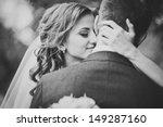 Beautiful Wedding Couple In...