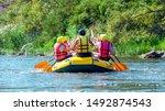 Rafting Trip. A Group Of Men...
