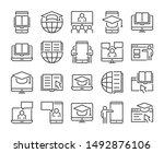 online learning icon. online... | Shutterstock .eps vector #1492876106