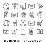 online shopping icon. e... | Shutterstock .eps vector #1492876109