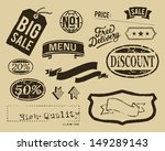 vintage sale graphic elements... | Shutterstock .eps vector #149289143