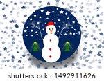 Winter Decoration. Snowman In ...