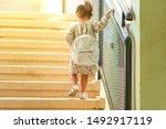 happy kid back to school....   Shutterstock . vector #1492917119