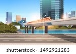 highway road city street with... | Shutterstock .eps vector #1492921283