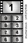film countdown numbers. vector... | Shutterstock .eps vector #149292908