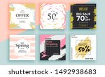 set of sale banner template... | Shutterstock .eps vector #1492938683